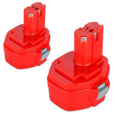 2x FLOUREON Battery for Makita PA14 14.4V 2000mAh Ni-CD Red