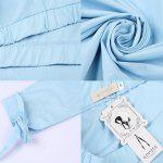 Woman tops 2016 Spring Autumn Fashion Casual Style Womens Sexy Off Shoulder Straight Collar Lacing 3/4 Sleeved And Side Slit Design Blouse Long Solid Color Tops - LIGHT BLUE