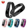 Diggro ID115HR Bracelet Bluetooth 4.0 Pedometer Calorie Sleep  Monitor Call/SMS Reminder Sedentary Reminder for Android IOS - BLACK