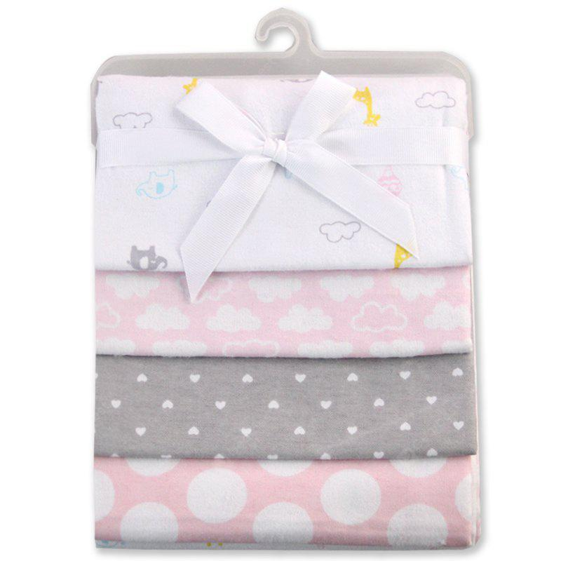 Pcs/Pack 100% cotton supersoft flannel receiving baby blanket baby bedsheet 76*76CM baby blankets butterfly pink