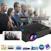 Newly Upgrade UNIC UC46+ Portable Projector Multiscreen With Smartphone Via Wifi Or Phone Data Cable Include HDMI/SD/USB/VGA/Double Audio Out Interfaces For Home Theater Camping - BLACK