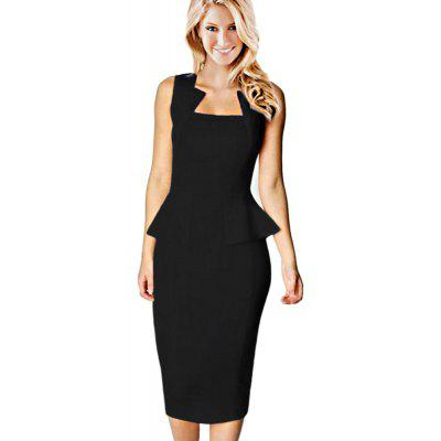 Square Neck Sleeveless Dress