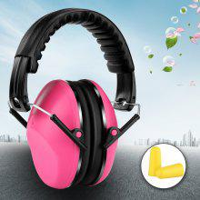 Noise Reduction Earmuff SNR 26dB Folding Ear Defender Hearing Protection Pink