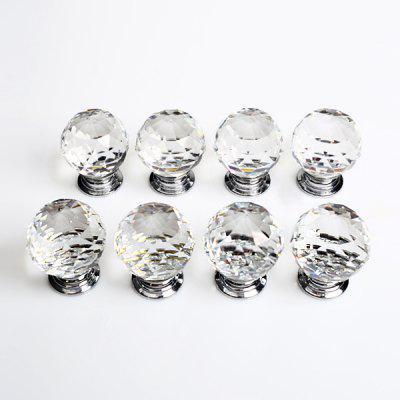 8 X LS - A010 30MM Clear Crystal Glass Door Knob