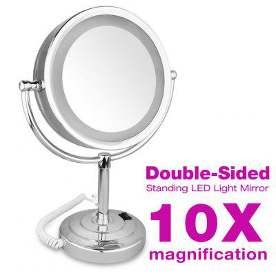 Stand LED Double Side 8.5inch 10x Magnification Mirror