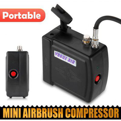 Black HS08 Mini Airbrush Compressor UK Plug
