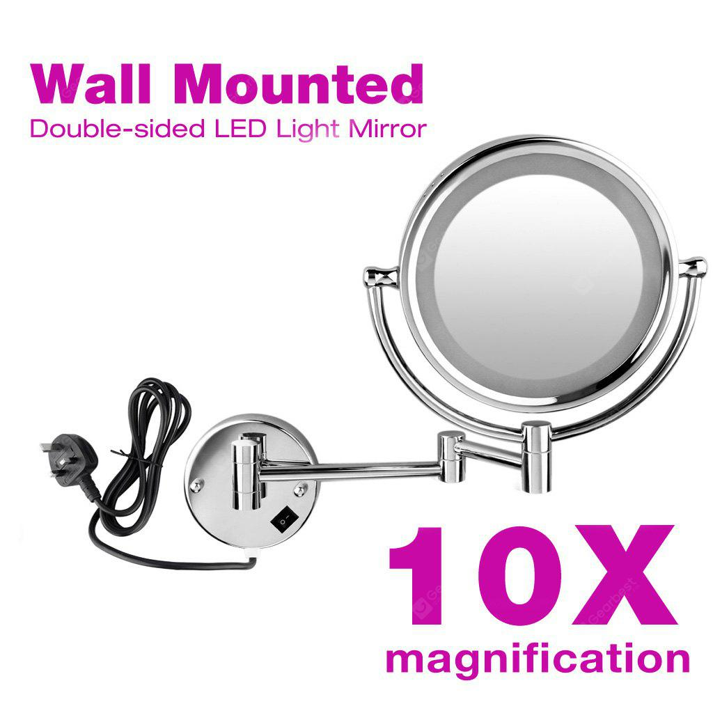 Wall Mounted 8.5 inch Cosmetic LED Lighted Bathroom Mirror