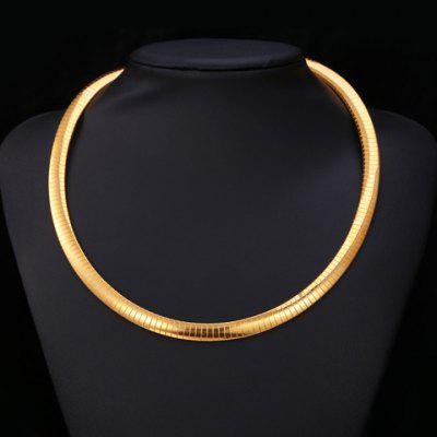 Trendy Never Fade Titanium Steel Snake Chain Choker Necklace For Women