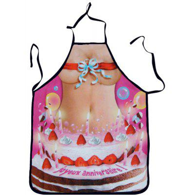 Creative 3D Woman in Bikini Pattern Printed Apron