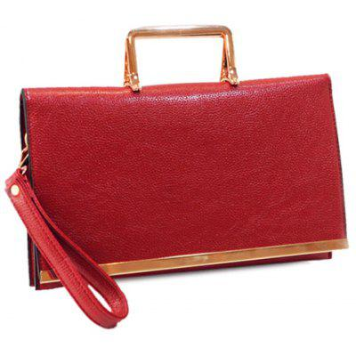 Trendy Metallic and PU Leather Design Crossbody Bag For Women