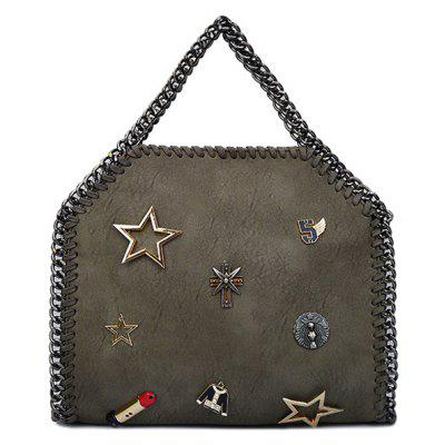 Trendy Chains and Star Design Tote Bag For Women