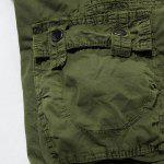 Loose Fit Casual Multi-Pockets Zip Fly Solid Color Cargo Shorts For Men - Серый