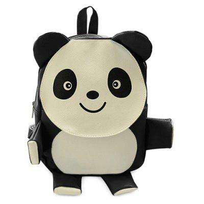 Cute Panda Shape and PU Leather Design Satchel For Women