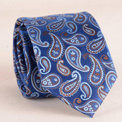 Buy BLUE Stylish Ethnic Paisley Jacquard 7CM Width Blue Tie For Men for $6.82 in GearBest store