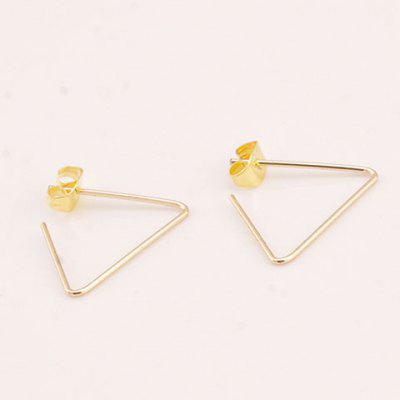 Pair of Hollow Out Triangle Earrings