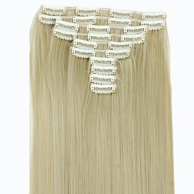 Ladylike High Temperature Fiber Straight Clip-In Long Hair Extensions стоимость