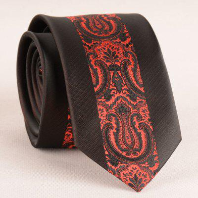 Stylish Red Retro Palace Jacquard Middle 6CM Width Tie For Men