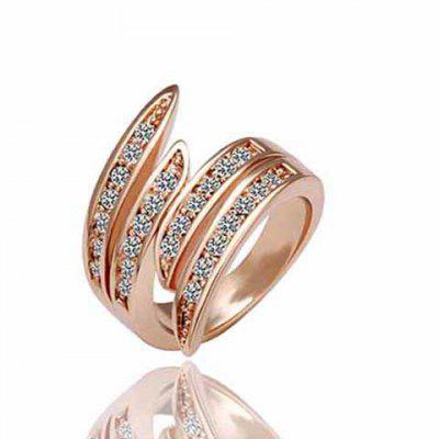 Delicate Rhinestone Angel Wing Valentine's Day Gift Ring For Women