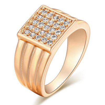 Vintage Rhinestone Square Shape Ring