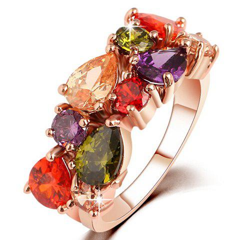 Faux Crystal Water Drop Ring