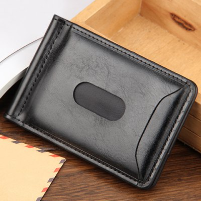 Simple Letter Print and Solid Colour Design Men's Wallet