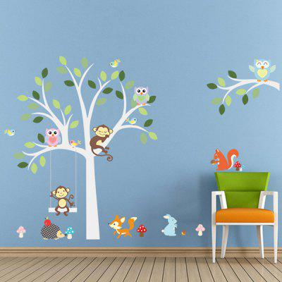 0%OFF Quality Cartoon Animals Pattern Wall Mural Stickers For Kidu0027s Rooms Part 89