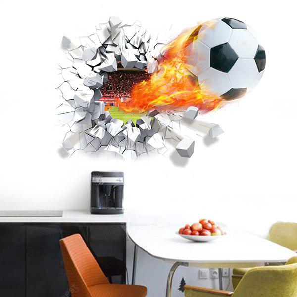 Football Breaking Wall 3D Stickers Sport Wall Decal