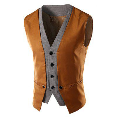 Monopetto V-Neck dimagramento Color Block Gilet For Men