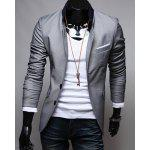 Single-Breasted Suit Jacket - GRAY