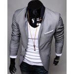 Buy Single-Breasted Suit Jacket 2XL GRAY