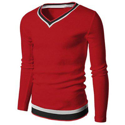 Long Sleeve Red T Shirts Men