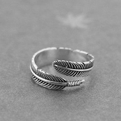 Vintage Feather Shape Cuff Ring