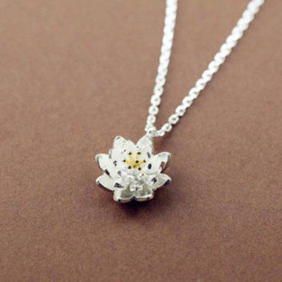 Lotus Flower Shape Ally Pendant Necklace