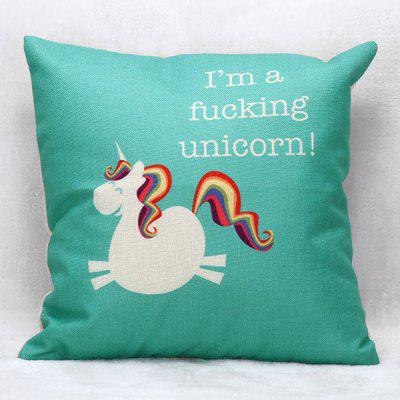 Cartoon Unicorn Pattern Square Shape Pillow Case(Without Pillow Inner)