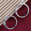 Pair of Rhinestoned Crown Heart Rings For Lovers - SILVER