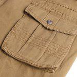 Casual Solid Color Multi-Pocket Straight Leg Zipper Fly Cargo Pants For Men - KHAKI