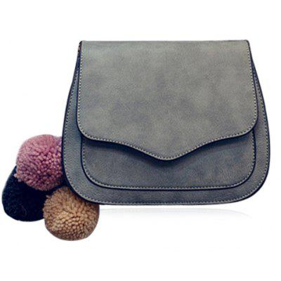 Simple Cover and PU Leather Design Crossbody Bag For Women