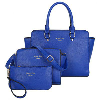Graceful PU Leather and Letter Print Design Women's Tote Bag