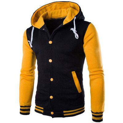 Slim Fit Spliced Hoodie