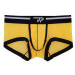 Elastic Waist Letter Print U Pouch Design Sexy Boxer Brief For Men deal