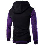 Slim Fit Spliced Hoodie - PURPLE