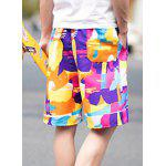 Buy Summer Straight Legs Thin Drawstring Colorful Printed Board Shorts Men XL COLORFUL