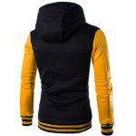 Slim Fit Spliced Hoodie - YELLOW