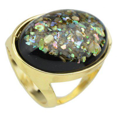 Oval Faux Gemstone Ring