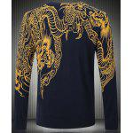 cheap Slim Fit Long Sleeves Round Collar Pullover Dragon Pattern Printing Sweater For Men