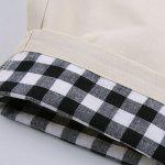 Straight Leg Plaid Stampa Shorts splicing Zipper Fly Uomo - BIANCO SPORCO