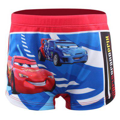 Stylish Elastic Waist Car Pattern Print Boxers
