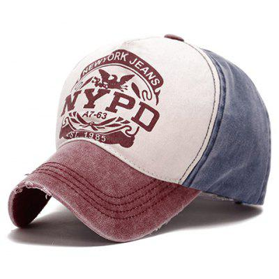 Fashionable Colour Matching Letter Pattern Baseball Cap For Women