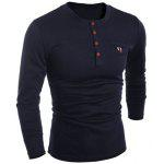 Buy BLACK, Apparel, Men's Clothing, Men's T-shirts, Men's Long Sleeves Tees for $11.93 in GearBest store
