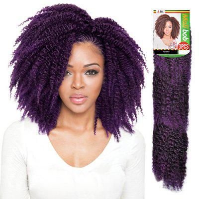 3PCS Stunning Short Heat Resistant Fiber Shaggy Afro Curly Braiding Hair Extension For Women